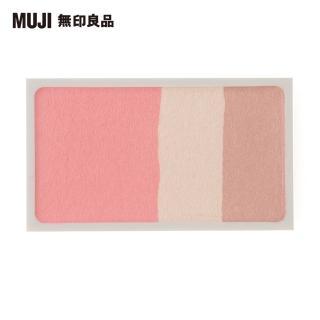 【MUJI 無印良品】3色臉部粉彩/粉紅米/4.7g