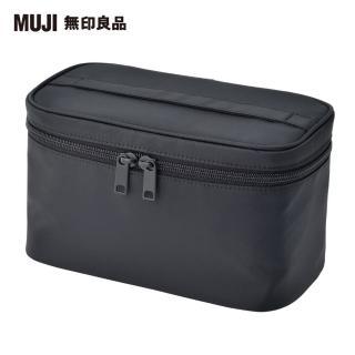 【MUJI 無印良品】尼龍手提化妝包/黑.約12.5x20.5x10.5cm