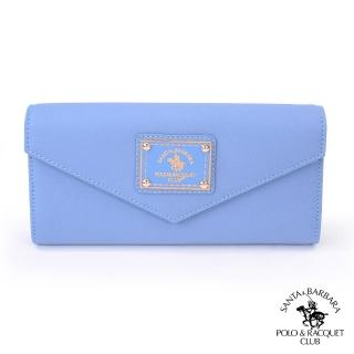 【SANTA BARBARA POLO】幸信件式長夾(寧靜藍)