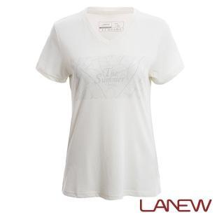 【La new】沁涼印花V領T恤(女40601148)