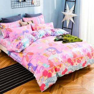 【A-ONE】MIT兒童單人床包/枕套二件組-吸濕排汗材質- 公主命