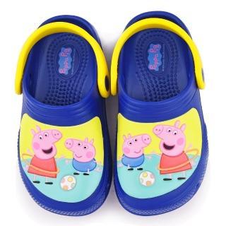 【童鞋城堡】粉紅豬小妹 中童 趣味遊戲花園鞋(PG0013-藍)