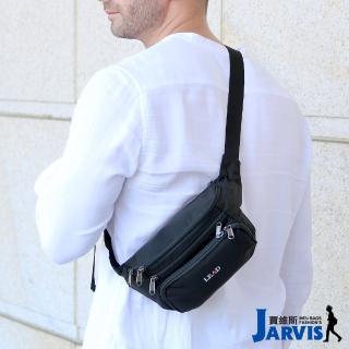 【Jarvis_賈維斯】萬用腰包 側肩背旅遊商務隨身包-經典(黑色)