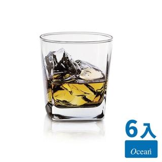 【Ocean】Plaza方型威士忌杯6入組(295cc/無鉛玻璃杯)