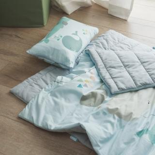 【翔仔居家】四季多用途兒童鋪棉睡袋(鯨奇)