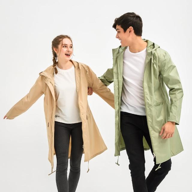 【KISSDIAMOND】防潑水風衣晴雨兩穿輕薄透氣時尚防曬外套(防風/輕巧/易收納/風雨衣/M-2XL可選)