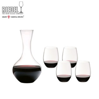 【Riedel】O(5件超值組買紅酒杯4入,送醒酒瓶1只)