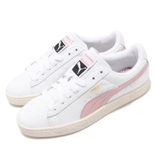 【PUMA】休閒鞋 Basket Classic 女鞋 基本款 穿搭 簡約 皮革 質感 白 粉(35436735)