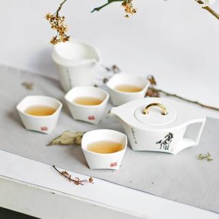 【TALES 神話言】臨風駿馬-馬鞍壺茶具組-1壺1茶海4杯(文創 禮品 禮物 收藏)