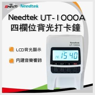 【NEEDTEK 優利達】UT-1000A 四欄位 時尚黑 背光 點矩陣微電腦打卡鐘(UT1000/UT2000/UT3000)