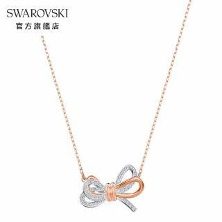 【SWAROVSKI 施華洛世奇】Lifelong Bow 多色優雅蝴蝶結項鏈 情人 禮盒