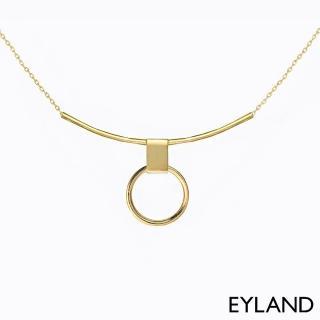 【Eyland】英國精品 Erin Choker 幾何簡約鍍金墜飾項鍊