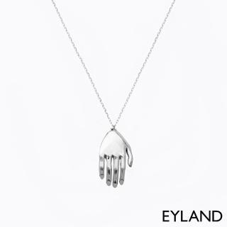 【Eyland】英國精品 Beatriz 個性白金手掌墜飾風格項鍊