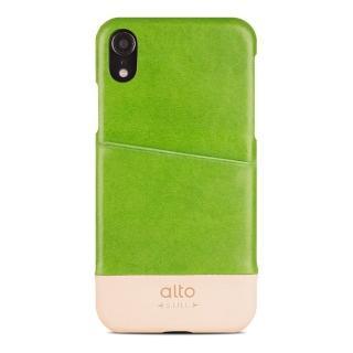 【alto 奧沰】iPhone XR 6.1吋皮革保護殼 Metro - 萊姆綠/ 本色(iPhone 保護殼)