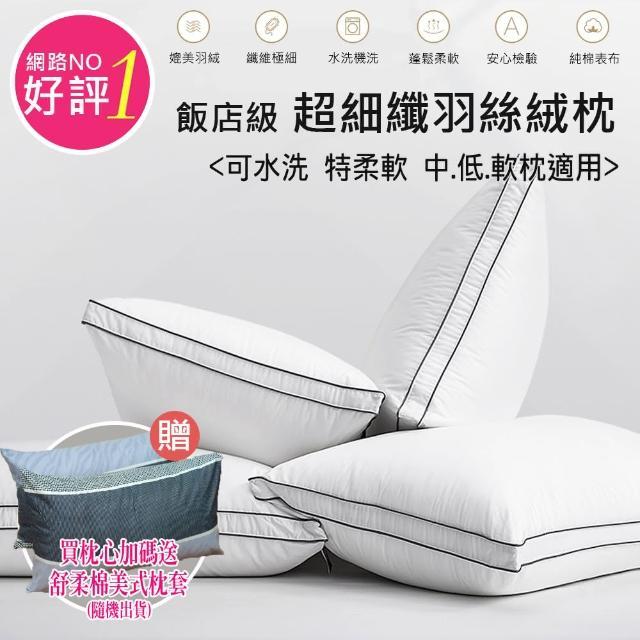 【ALAI寢飾工場】五星級科技可水洗羽絲絨枕(買一送一