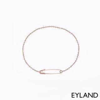 【Eyland】英國精品 Maya Safety Pin 個性別針玫瑰金手鍊