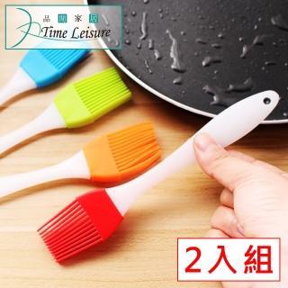 【Time Leisure】燒烤專用 矽膠耐高溫醬料油刷 2入/顏色隨機