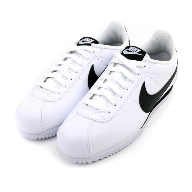 【NIKE 耐吉】WMNS CLASSIC CORTEZ LEATHER 白黑-807471101(女休閒鞋)
