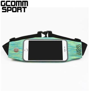 【GCOMM】萊卡時尚雪花防汗水音樂腰包(綠黃雪花)