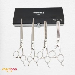 【神寶寵物】SHARK TEETH專業寵物美容剪刀(職業鑽石)