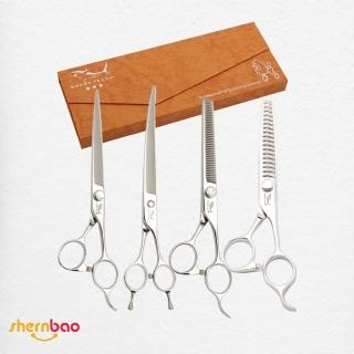 【神寶寵物】SHARK TEETH專業寵物美容剪刀(家用三星)