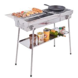 【WASHAMl】戰斧特大烤肉架SS304不鏽鋼(升降烤網高度可調整)