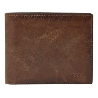 【FOSSIL】RYAN RFID-簡約實用男夾-深棕色(ML3687200)
