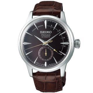 【SEIKO 精工】PRESAGE 調酒師中央動力儲存顯示機械錶-咖啡(4R57-00E0M/SSA393J1)