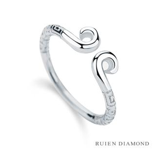 【RUIEN DIAMOND 瑞恩鑽石】情侶對戒 戒圈 愛金箍(18K白金 女戒)