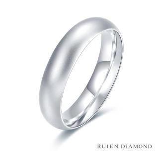 【RUIEN DIAMOND 瑞恩鑽石】情侶對戒 結婚對戒 戒圈(18K白金 男戒)