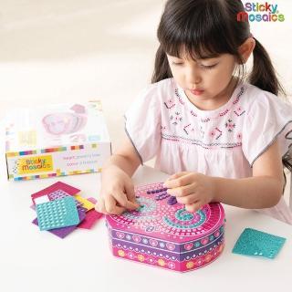 【Sticky Mosaics】馬賽克拼貼-心型珠寶盒(隨拆隨玩、具備收納功能)