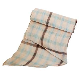 【DAKS】經典大格紋領巾/圍巾(綠&米格)