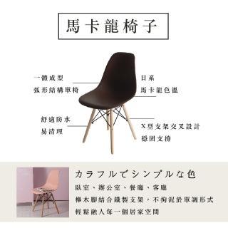 防疫必備 居家辦公【MAMORU】北歐復刻休閒椅休閒餐椅-2入組(五色任選/化妝椅/工作椅)