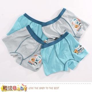 【魔法Baby】男童內褲 四件一組 海底小縱隊授權正版彈性四角內褲(k51214)