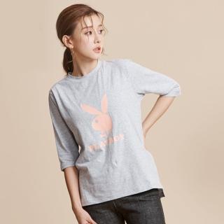 【PLAYBOY】基本款五分袖T恤(灰色)