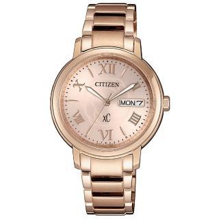 【CITIZEN 星辰】xC 光動能 玫瑰甜心限定款時尚女錶-玫瑰金/32.5mm(EW2422-63W)