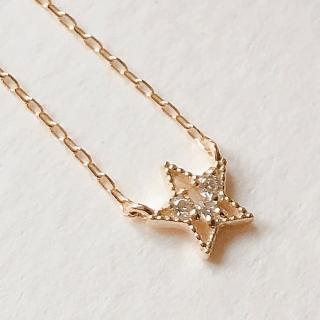 【me.luxe】K10黃K3分鑽石鍊
