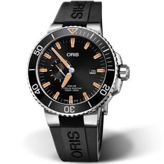 【ORIS 豪利時】AQUIS小秒盤潛水機械錶(0174377334159-0742464EB)