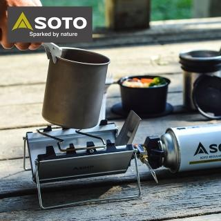 【SOTO】薄型輕便休閒爐 ST-320(經典摺疊爐贈瓦斯罐*1)