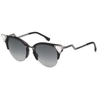 【FENDI 芬迪】名人愛用 太陽眼鏡(黑色FF0041S)
