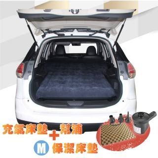 【Camping Ace】二代升級-快充式植絨充氣床墊_車用睡墊+保潔床包M+2用幫浦(ARC-298R-1)