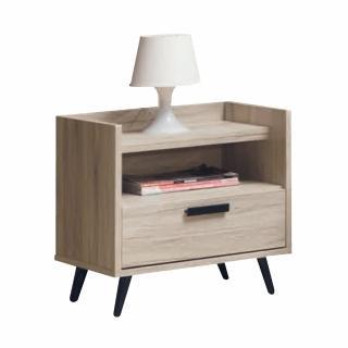 【AS】溫格斯橡木色床頭櫃-51x39x54cm