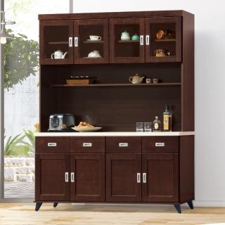 【AS】艾曼達胡桃色5.3尺石面餐櫃全組-161x40x202cm