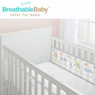 【英國 BreathableBaby】透氣嬰兒床圍 兩側型(19436晚安小熊)