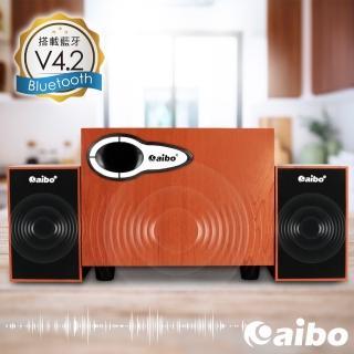 【aibo】L391 藍牙多功能2.1聲道 三件式木紋USB喇叭(AUX/隨身碟/TF卡)