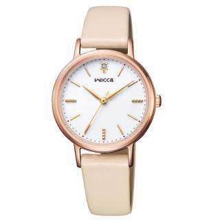 【CITIZEN 星辰】wicca少女系列廣告款太陽能腕錶(KP5-166-10)