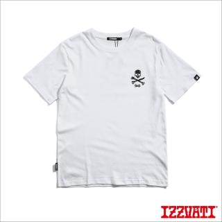 【IZZVATI】前胸骷髏短TEE-白(品牌經典短T)
