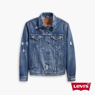 【LEVIS】男款 牛仔外套 / Type 3 經典修身版型 / 個性磨損破壞