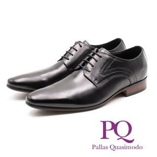 【PQ】素面側車線紳士德比鞋 男鞋(黑)