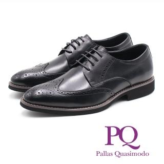 【PQ】牛津雕花壓紋輕量皮鞋(黑)